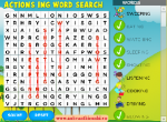 Action Verbs (-ing) word search