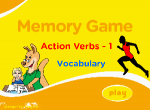 Action verbs Vocabulary Memory 1