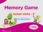 Action Verbs Vocabulary Memory 3
