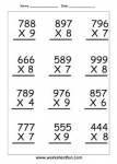 Bài 17: Multiplying a three digit by a one digit number